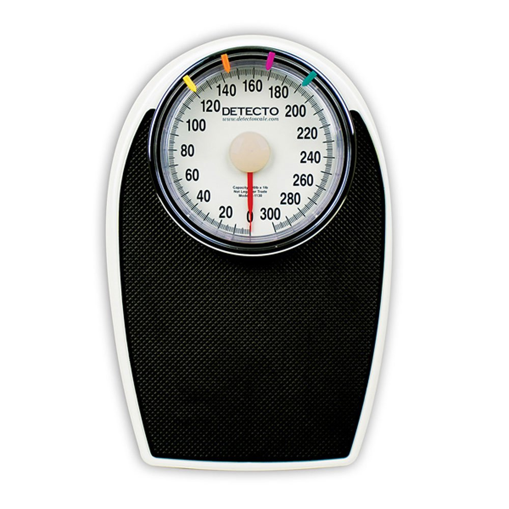 Detecto D1130 Large Dial Bathroom Scale, 300 lb Capacity