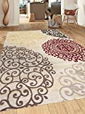Floral Rug Rugshop Contemporary Modern Floral Indoor Soft Area Rug, 5'3
