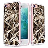 True Color Case Compatible with iPhone 7 & iPhone 8 Camo Case Clear-Shield Real HD Camouflage Printed on Clear Back - Soft and Hard Thin Shock Absorbing Dustproof Full Protection Bumper Cover