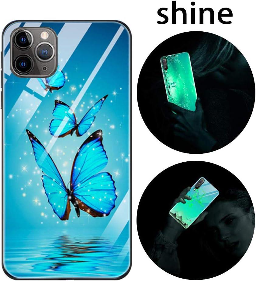 Carcasa con Dibujos Dise/ño Silicona TPU y PC Trasera Cristal Proteccion Antigolpes Noctilucent Fluorescente Caja Starry Night Luminosa Funda para iPhone 11 Funda iPhone 11