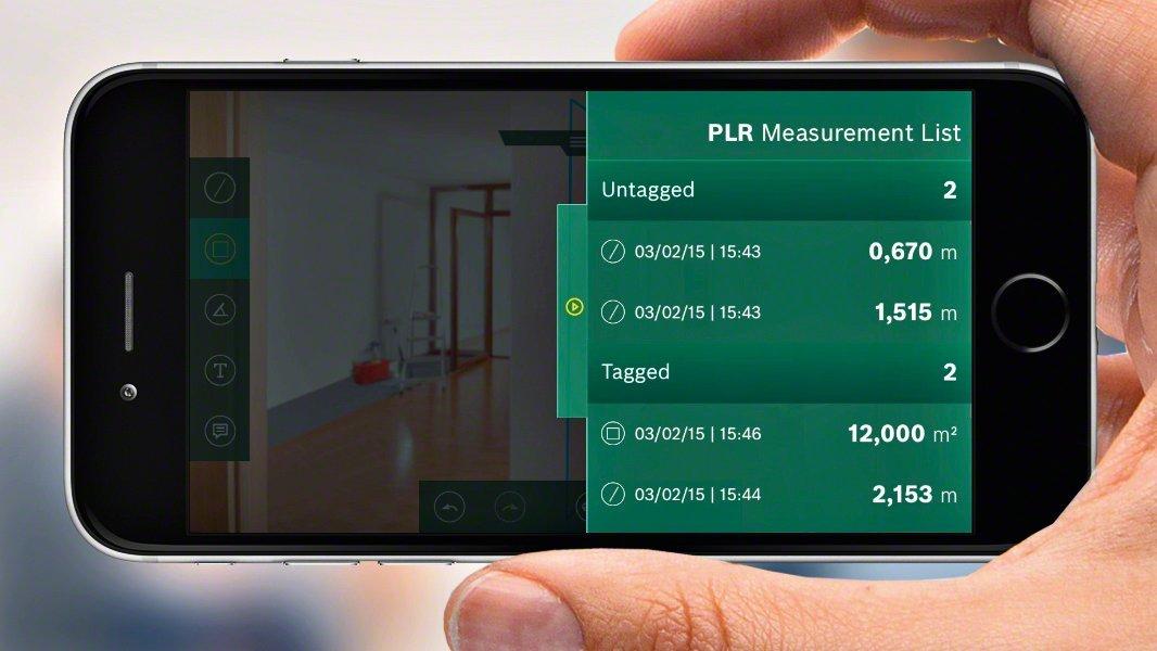 Bosch Laser Entfernungsmesser App : Bosch laser entfernungsmesser plr 50 c app funktion 3x aaa
