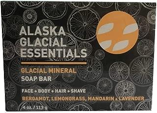 product image for Alaska Glacial Mud Glacial Mineral Soap Bar Bergamot Lemongrass Mandarin & Lavender, Exfoliates Dead Skin Cells Detoxifies Pores, Softens Skin 4oz