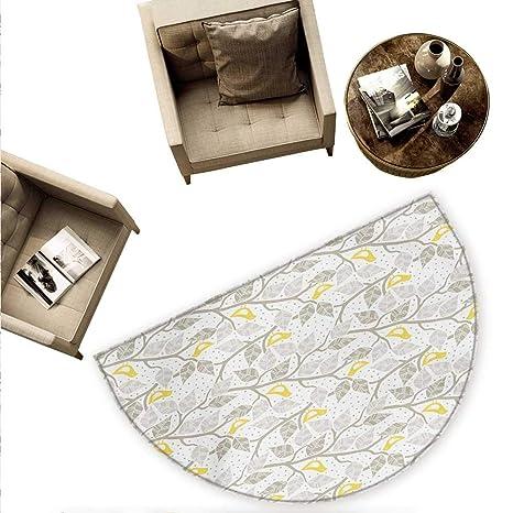 Amazon.com: Cojín semicircular gris y blanco con patrón de ...
