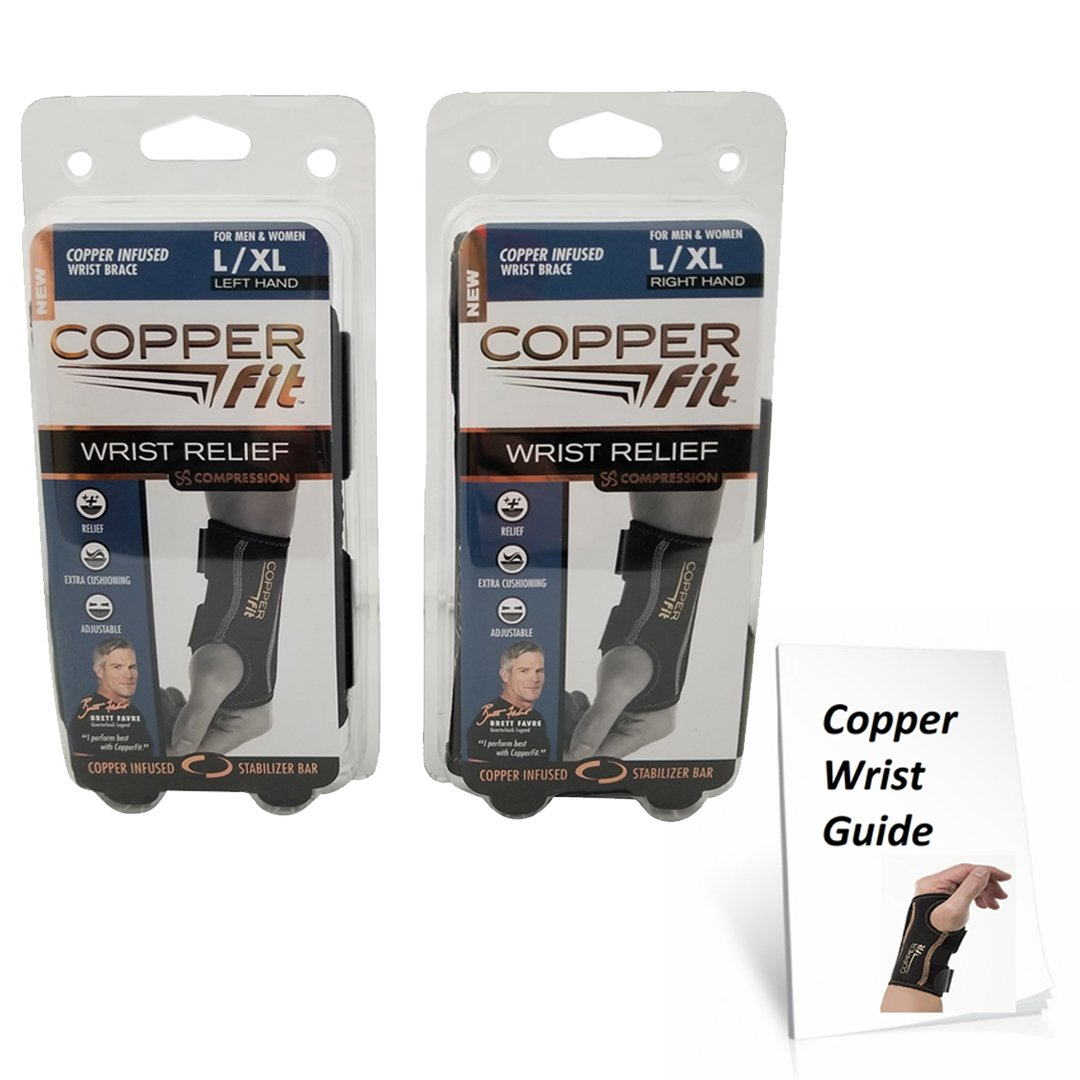 Copper Fit Compression Wrist Sleeve SET Left and Right Wrist Sleeve - Available in two sizes! by Copper Fit (Image #1)
