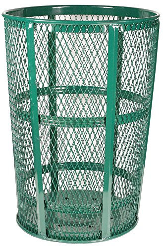 Witt Industries EXP-52GN Steel 48-Gallon Outdoor Waste Receptacle, Round, 23