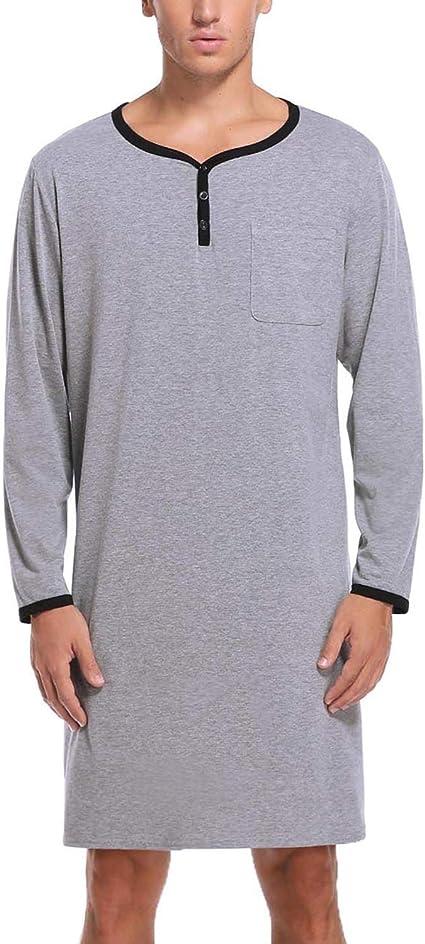 Sykooria Mens Pajamas Set 100/% Cotton Long Sleeve Pajama Pants and Tops Set Sleepwear