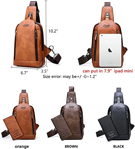 JEEP BULUO Sling Bag Crossbody Backpack Shoulder Bag