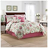 Waverly Beautiful Girls Vintage Floral Berry Bedding KING Comforter Set (6 Piece in a Bag)