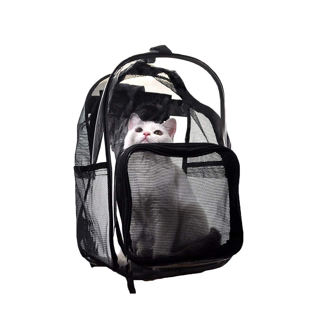JIANXIN Borsa per Animali da Compagnia, Pet Carrier, Pet Cage, Spalla-Back, Zaino Full Transparent, Adatto per I Viaggi, con Animali al Supermercato