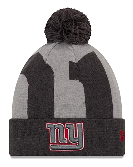ac932f4da1974 Image Unavailable. Image not available for. Color  New Era New York Giants  NFL Logo Whiz 3 quot  Cuffed Knit Hat with Pom -