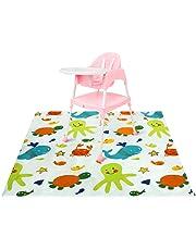 Zicac Baby HighChair Floor Mat Protector Cover Washable Splat Mats (Underwater World)