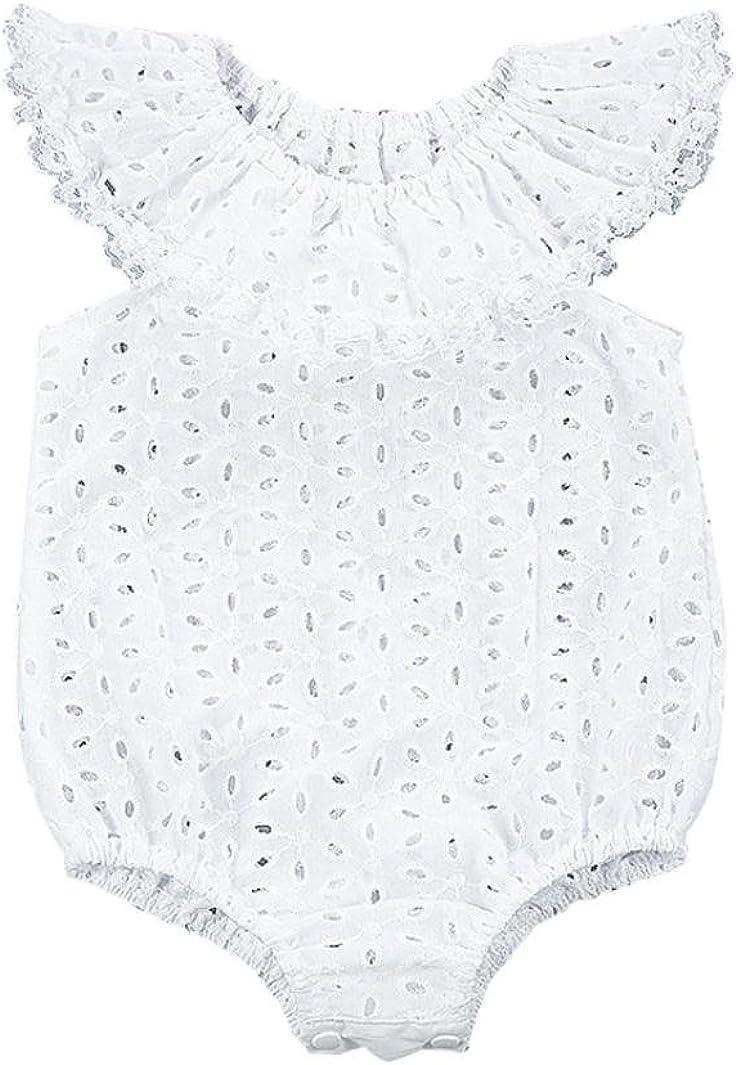 Matoen Newborn Baby Girls Lotus Leaf Bodysuit Romper Jumpsuit Sunsuit Clothes Set