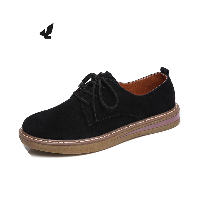 Amazon.com | 2018 Autumn Women Sneakers Oxford Shoes Flats Shoes Suede Shoes Round Moccasins 989 | Oxfords