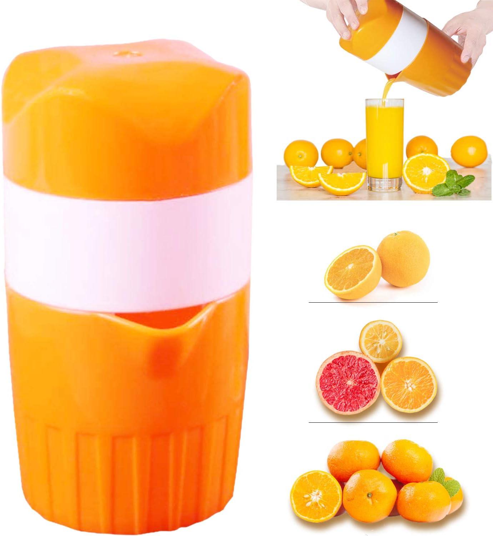 manual Citrus Orange Juicer Orange Manual Lid Rotation Lemon Squeezer with filter and container Citrus juicer Hand Fruit Juicer Press,Professional Hand Juicer Kitchen Tool
