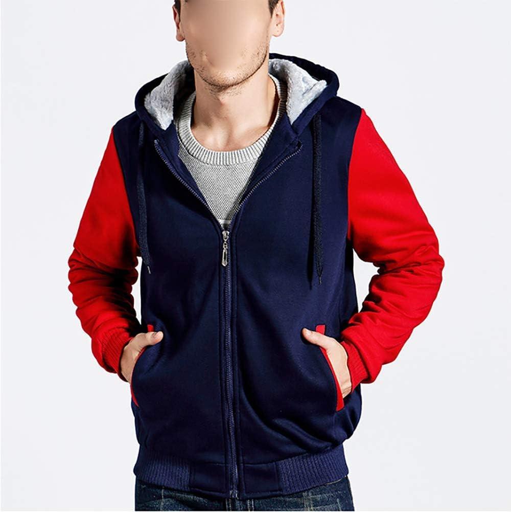 Yajun Winter Herren Fleece Hoodie Verdicken Jacken NHL Detroit Red Wings Mode Sweatshirt Thermo Mäntel Mehrfarben Sport Outwear Black-gray