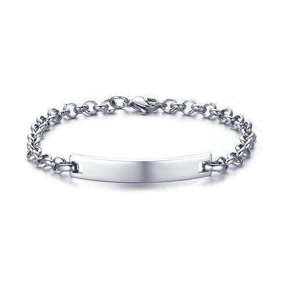 Amazon.com: Beydodo 6.5mm Stainless Steel Bracelet Charms ...