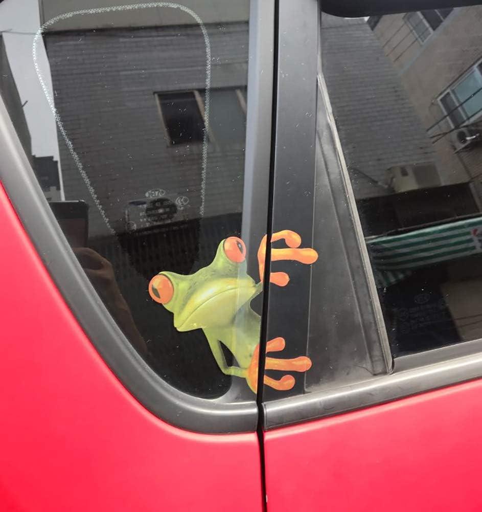 OKDEALS 3D Cute Peep frog funny car stickers Truck Window Vinyl Decal Graphics Auto 2pcs