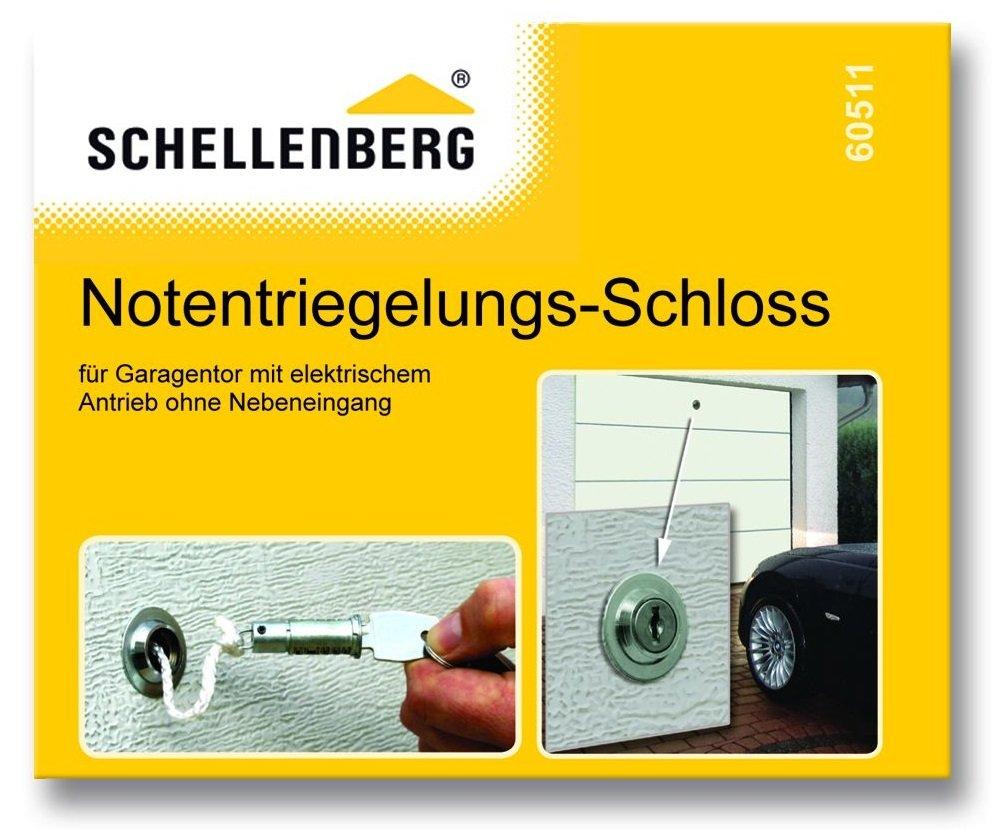 Hervorragend Schellenberg 60511 Notentriegelungsschloss für Garagentor: Amazon GE64