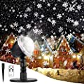 Christmas Projector Lights Outdoor LED Snowflake Christmas Lights with Remote Control, Outdoor Landscape Patio Garden Decorative Lighting for Christmas Xmas Holiday Birthday Party Stage