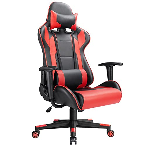 Devoko Ergonomic Gaming Chair Racing Style Adjustable Height High-Back PC Computer Chair