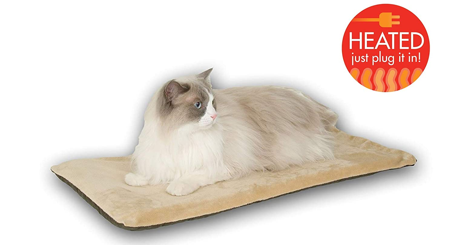B000S9M2U4 K&H Pet Products Thermo-Kitty Mat Heated Pet Bed 61a-bEZS2SL