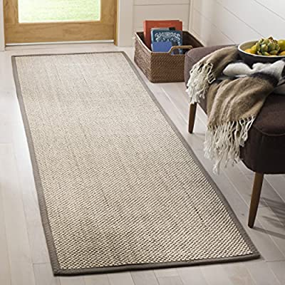 Safavieh Natural Fiber Collection NF143A Marble and Black Sisal Area Rug (5' x 8')