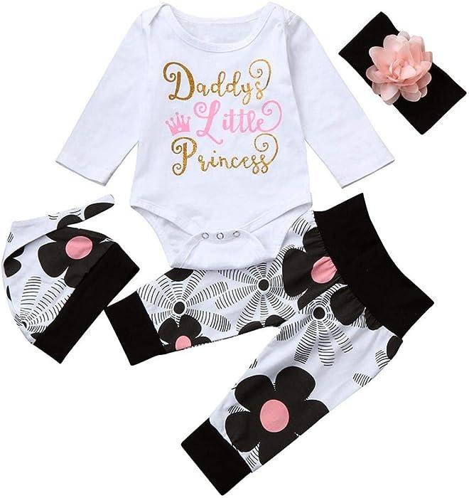 DAY8 Vêtement Bébé Fille Hiver Ensemble Bébé Fille Naissance Printemps  Fleur Pyjama Bébé Garcon Manche Longue ad216ab3ec6