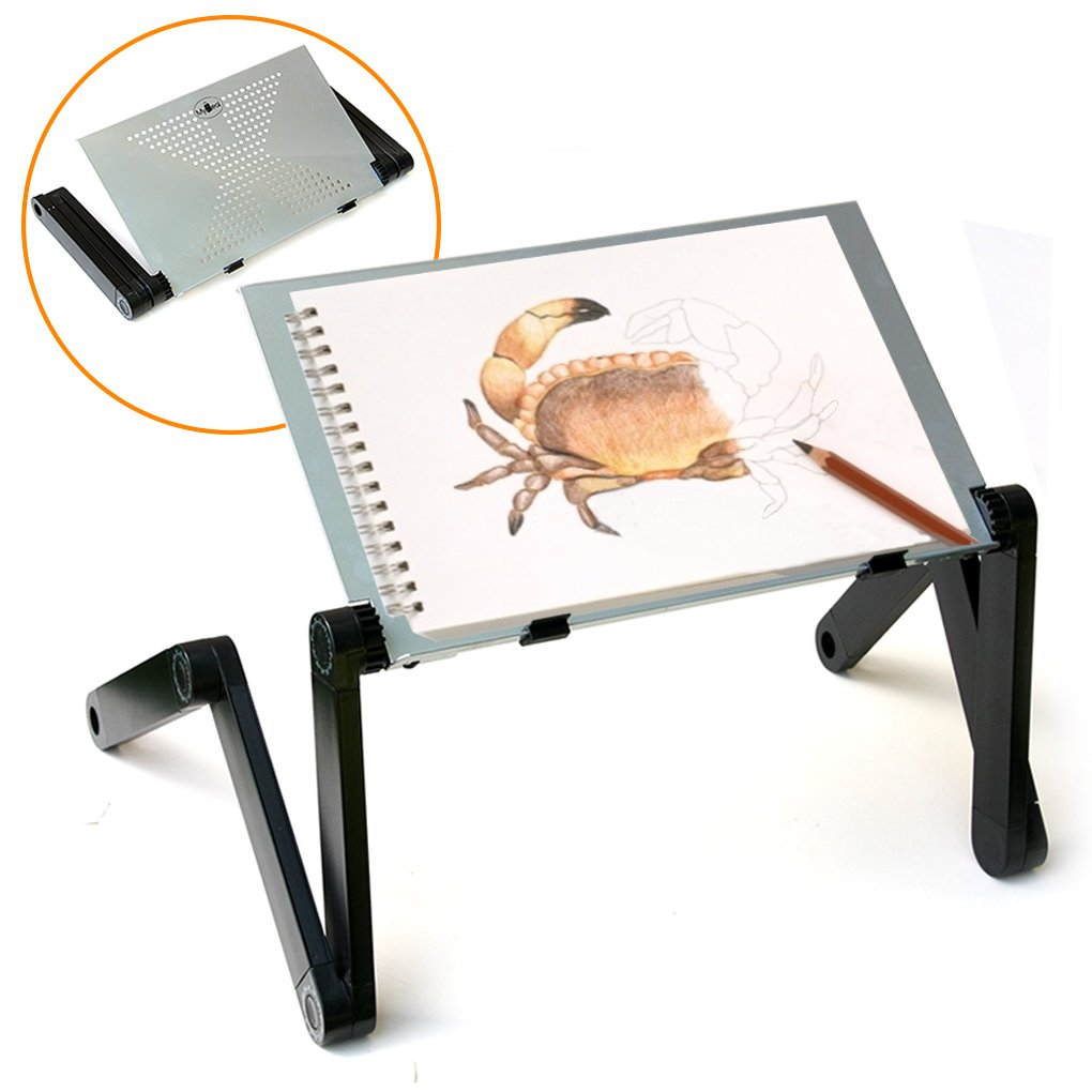 QuickLIFT Portable Art Easel Adjustable Stand for Drawing & Painting on Tabletop   Bed   Couch   Floor. Use with Sketch Book , Canvas & other Media