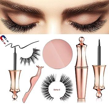 af90e4dbe3a Magnetic Eyeliner, Magnetic Eyeliner with Magnetic False Eyelashes Set,  Waterproof Eyeliner Liquid Magnetic Lash