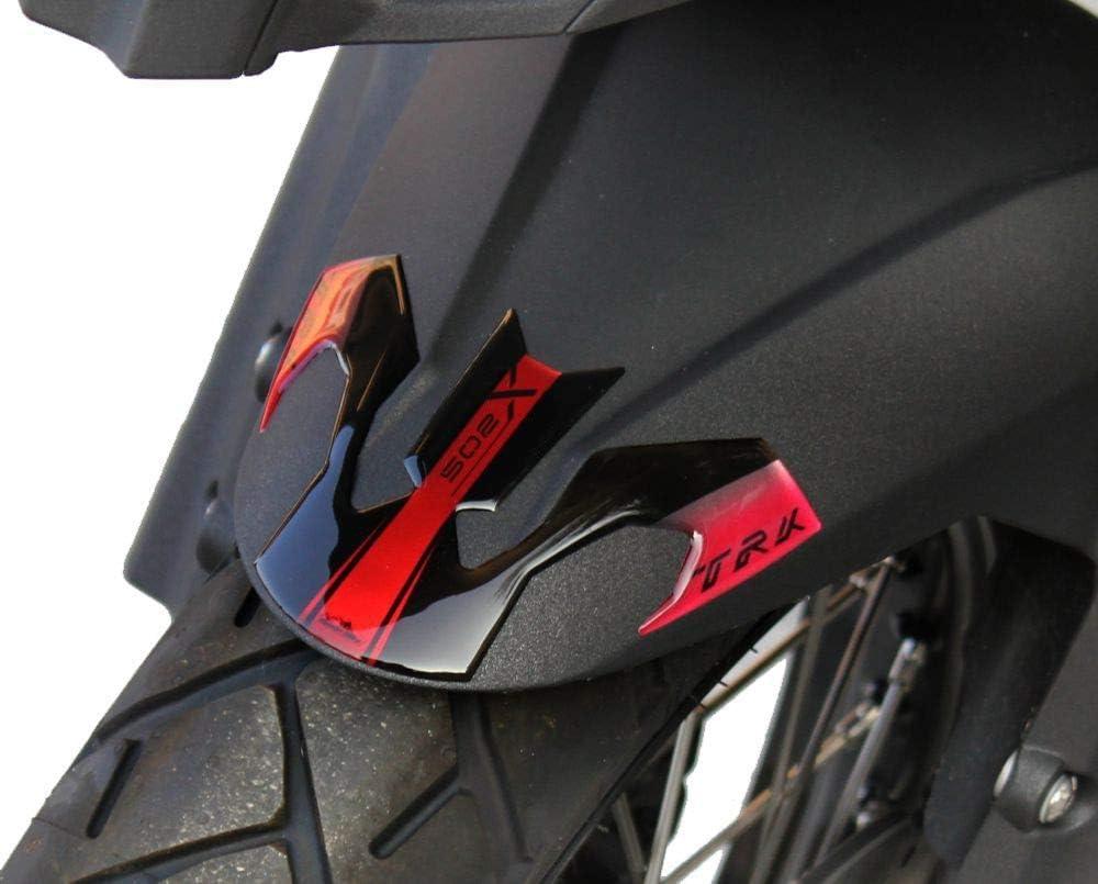 Benelli Trk 502 X 2017-18 Adh/ésif R/ésine Protection Garde-Boue avant Rouge M/étal