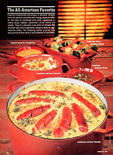 periodpaper llc collectible original print archive 1962 color print frankfurter hot dog 60s. Black Bedroom Furniture Sets. Home Design Ideas