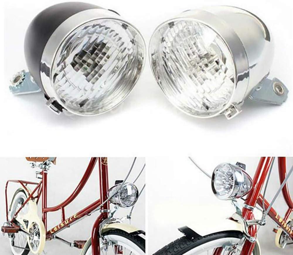 siqiwl Fahrradlicht Nebelscheinwerfer Klassische LED Vintage Fahrrad Scheinwerfer Fahrrad Retro Kopf Light Nebel Lampe Sicherheit Licht