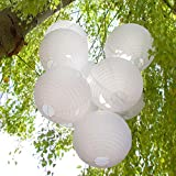 Just Artifacts 12-Inch White Chinese Japanese Paper Lanterns