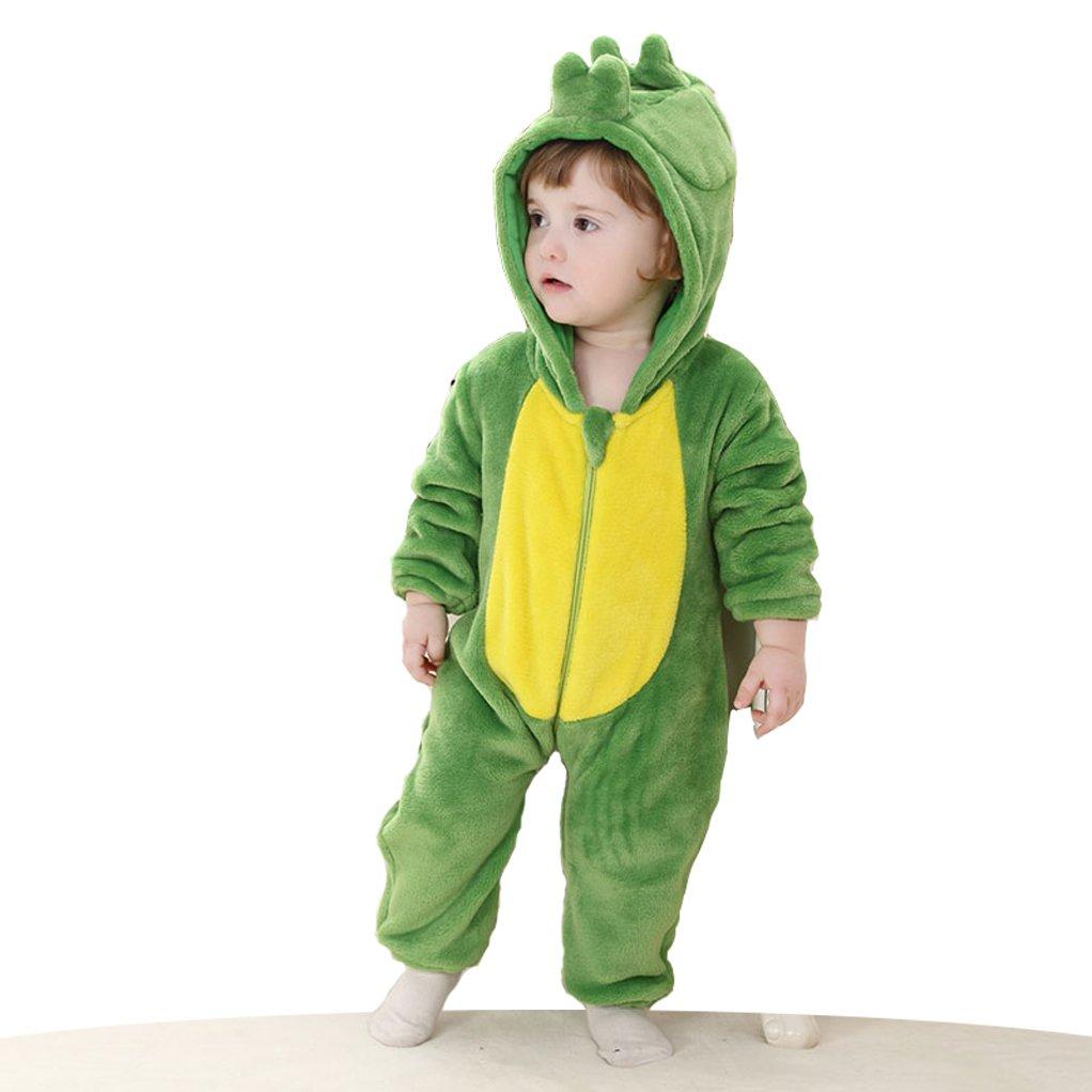 CANDIDO Toddlers' Pajamas Unisex Baby Cosplay Animal Onesie Romper #70 Green Dinosaurs