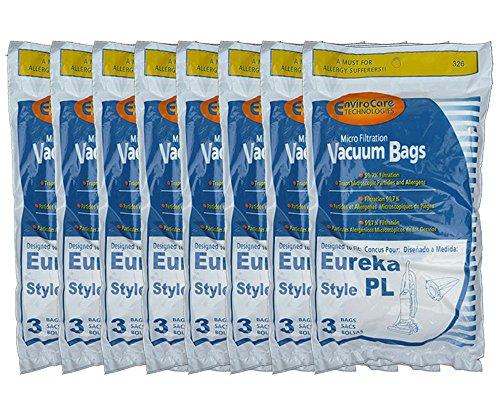 24 Eureka Electrolux Style PL Upright Vacuum Bags, Bagged Uprights, Maxima Vacuum Cleaners, 62389, 62389A, EU-62389, 62389-6, 62480, 62389-g3, 4750, 4750A, 4760, 4760AZ, (Eureka 4750a Vacuum)