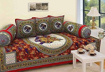 STOP N SHOPP Combo of Cotton Jaipuri Diwan Set (Multicolour)