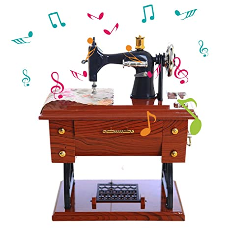 Amazon Aimik Sewing Music Box Vintage Music Box Mini Sewing Delectable Dressmaker Mini Sewing Machine Instructions