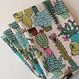 Botanical Cactus Plant, 12x12 Cotton Napkins, Set of 6
