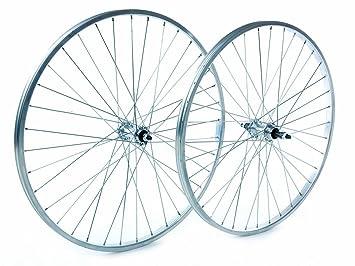Tru-build Wheels RGR810 - Rueda para bicicletas, color plateado, talla 26 x 1.75 Inch: Amazon.es: Deportes y aire libre