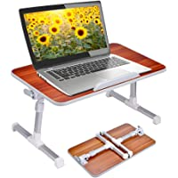 Adjustable Portable Portable Standing Desk Sofa Breakfast Tray Notebook Stand Reading Holder for Couch Floor Standard Size American Cherry