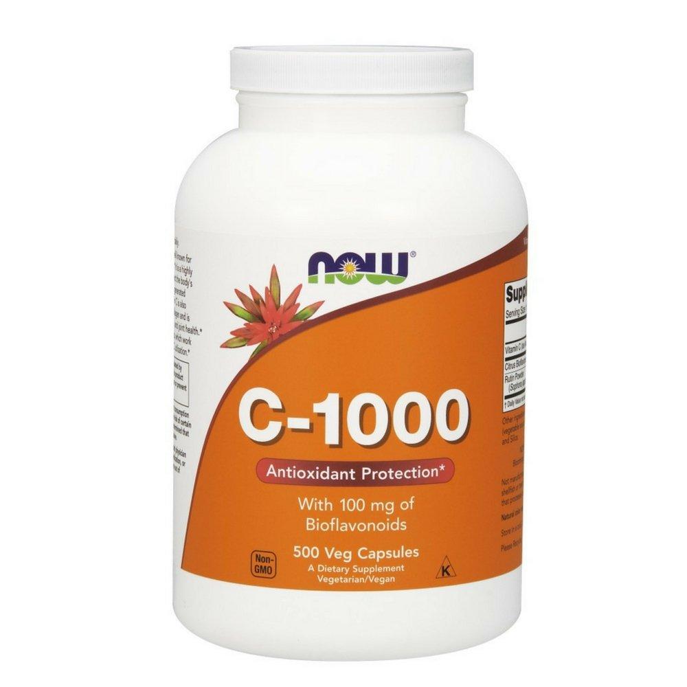 NOW Vitamin C-1000,500 Veg Capsules