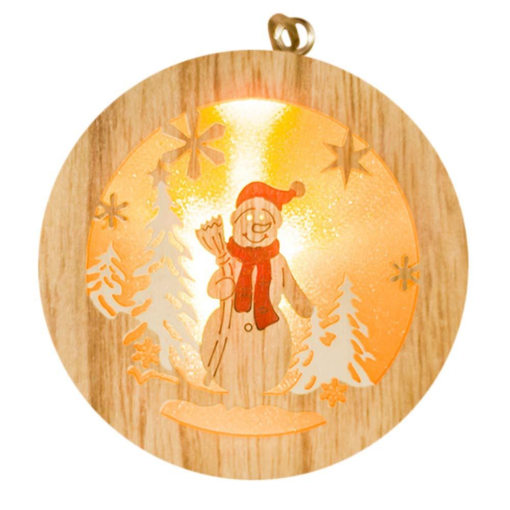 Zoilmxmen Creative Lovely Christmas Wooden Pendant Xmas Tree Pendant Party Christmas Tree Ornaments Xmas Birthday Gifts Christmas Tree Hanging Decor