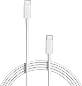 MacBook Pro Charging Cable, 100W Replacement USB-C to Type-C Fast Charger Cord Compatible with MacBook Pro 16 Inch 15 Inch MacBook Air 13 Inch iPad Pro 3A Fast Charging (100W USB-C)