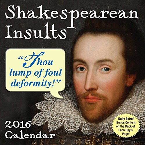 Shakespearean Insults 2016 Day-to-Day Calendar
