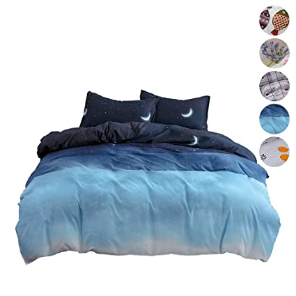 Duvet Quilt Cover Bedding Set Bed Linen Pillow Sheet Double Super King Single HR