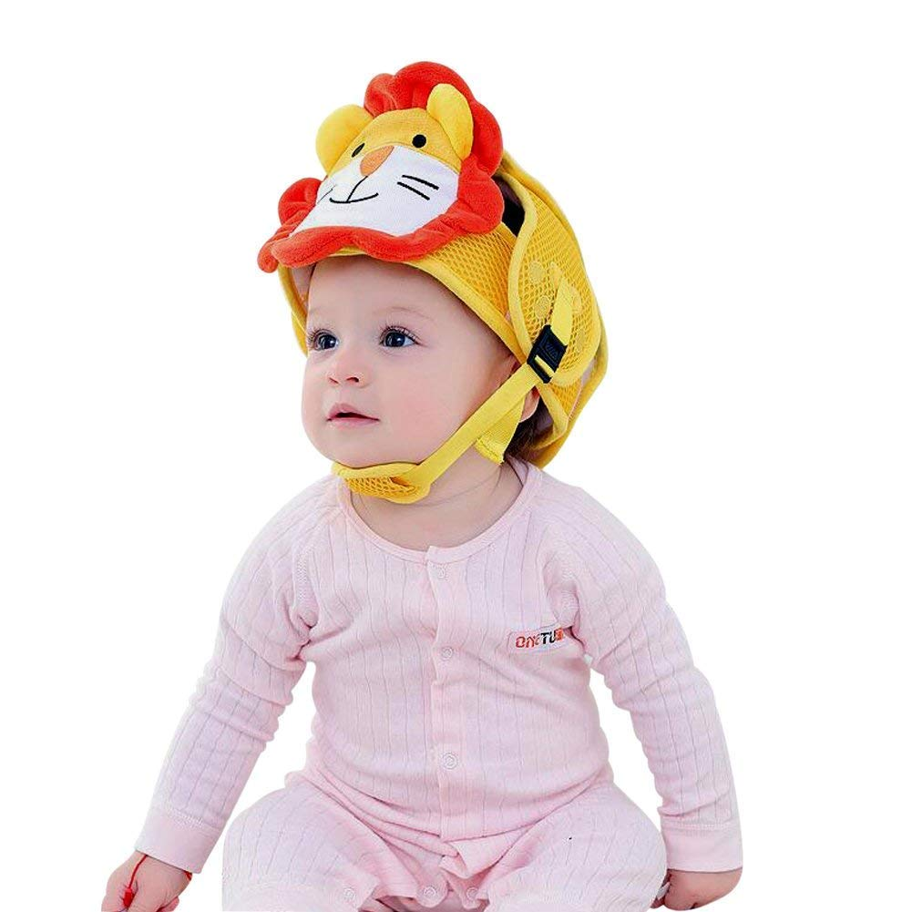 Hotmall Casco di Sicurezza per Bambini Protettore Testa Infantile Cappello di Sicurezza Cappuccio Proteggi Testa Anticollisione Regolabile Pettorine Protezione per la Testa per Bambini Piccoli