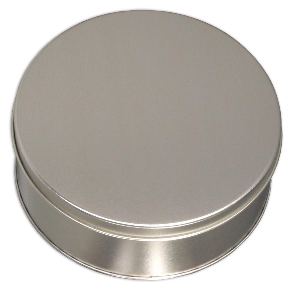 Scott's Cakes Medium Size Empty Solid Platinum Tin
