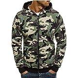 Men's Autum Winter Slim Fit Sweatshirt Zipper Hoodie Outwear Sweater Warm Coat Cardigan Jacket