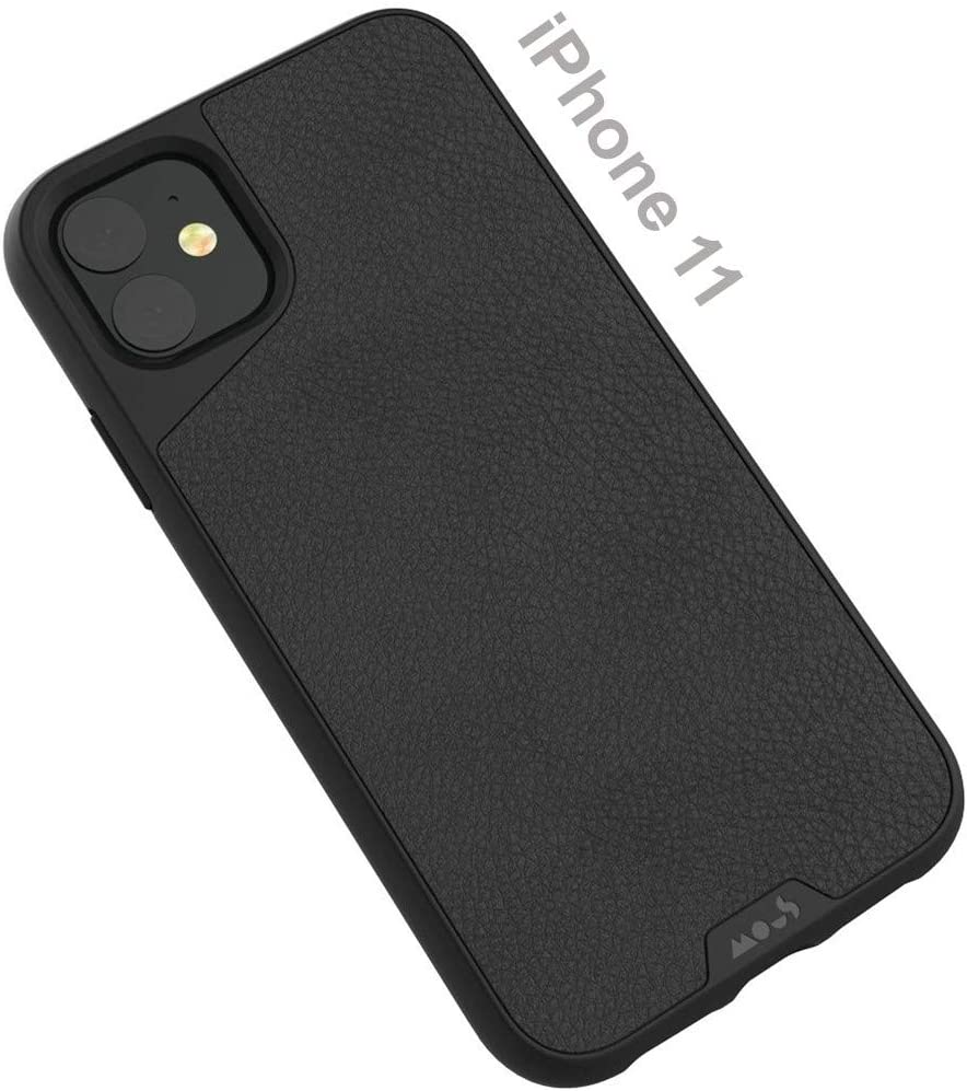 MOUS - Protective Case for iPhone 11 - Limitless 3.0 - Black Leather - No Screen Protector