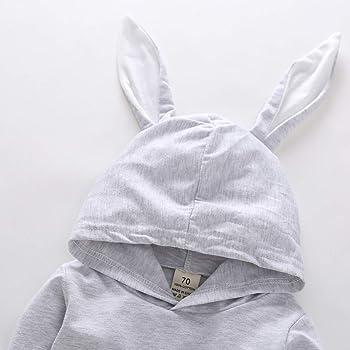 c0ee82ae1e3 Baby Boys Girls Easter Bunny Hooded Romper Cartoon 3D Rabbit Long Sleeve  Bodysuit. Wiswell Baby Boys Girls Easter Bunny Romper Long Sleeve ...